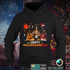 Guitar Halloween And Merry Christmas Happy Hallothanksmas Sweatshirt