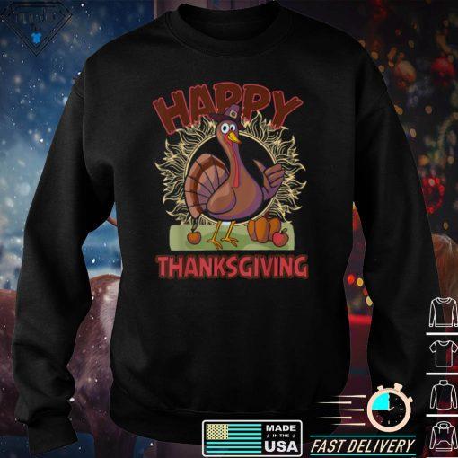 Happy Thanksgiving Funny Turkey Day Costume T Shirt