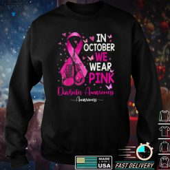 In October We Wear Pink Breast Cancer Awareness Ribbon T Shirt
