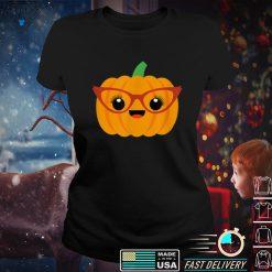 Jack O Lantern Pumpkin Shirt with Glasses Halloween Shirt T Shirt