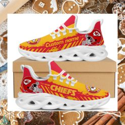 Kansas City Chiefs American NFL Football Team Helmet Logo Custom Name Personalized Men And Women Max Soul Sneakers Shoes For Fan