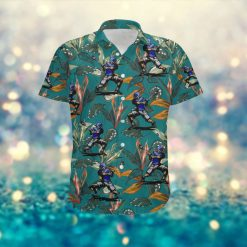 Lacrosse Sporty Women Hawaiian Aloha Tropical Floral Custom Name Shirt For Lacrosse Lovers On Summer Vacation
