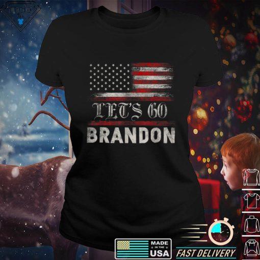 Let's Go Brandon T Shirt Conservative Anti Liberal US Flag T Shirt