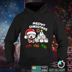 Meow Christmas Funny Cat With Sarcastic Toilet papers Fun Tank Top