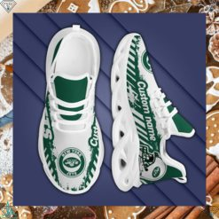 New York Jets American NFL Football Team Helmet Logo Custom Name Personalized Men And Women Max Soul Sneakers Shoes For Fan