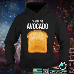 Official I'm With The Avocado Toast Avocado Costume T Shirt