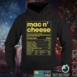 Official Mac and Cheese Nutrition Funny Thanksgiving Mac N Cheese T Shirt