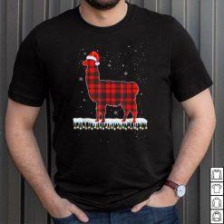 Official Red Plaid Red Buffalo llama Christmas Pajamas Family Gifts T Shirt