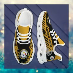 Pittsburgh Steelers American NFL Football Team Helmet Logo Custom Name Personalized Men And Women Max Soul Sneakers Shoes For Fan
