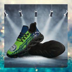 Seattle Seahawks American NFL Football Team Helmet Logo Custom Name Personalized Men And Women Max Soul Sneakers Shoes For Fan