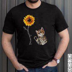 Sunflower Bengal Cat Hippie Friends Cutes Design Shirt