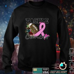 Tackle Football Pink Ribbon Breast Cancer Awareness Boys Kid T Shirt
