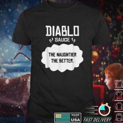 Tacos Diablo T Shirt Sauce Cinco de Mayo or Halloween belly