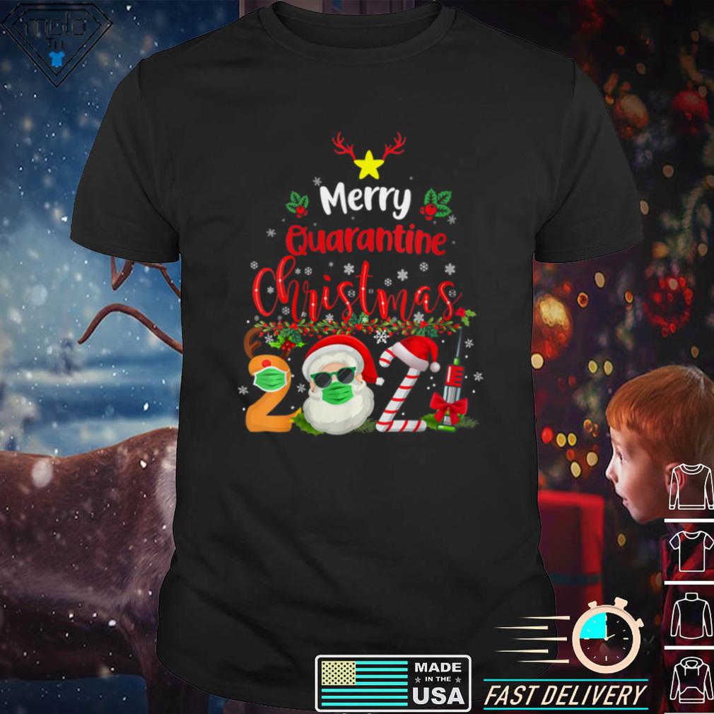 Womens Merry Christmas 2021 Reindeer Funny Pajamas Family Xmas V Neck T Shirt (5)