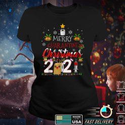 Womens Merry Christmas 2021 Reindeer Funny Pajamas Family Xmas V Neck T Shirt (6)